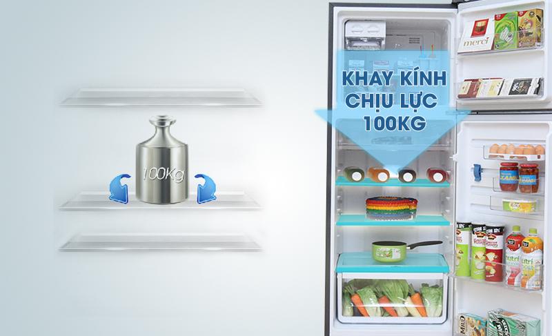 Tủ lạnh Electrolux ETB3202MG có khay kính chịu lực tốt