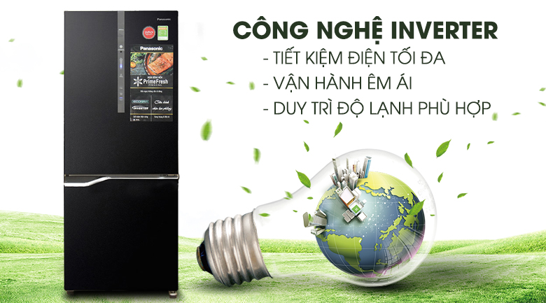 Inverter - Tủ lạnh Panasonic Inverter 255 lít NR-BV288GKVN