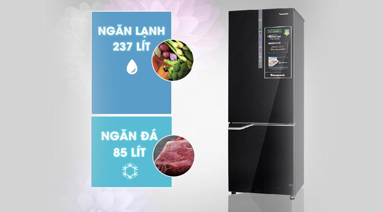 Dung tích 358 lít - Tủ lạnh Panasonic Inverter 322 lít NR-BV368GKVN