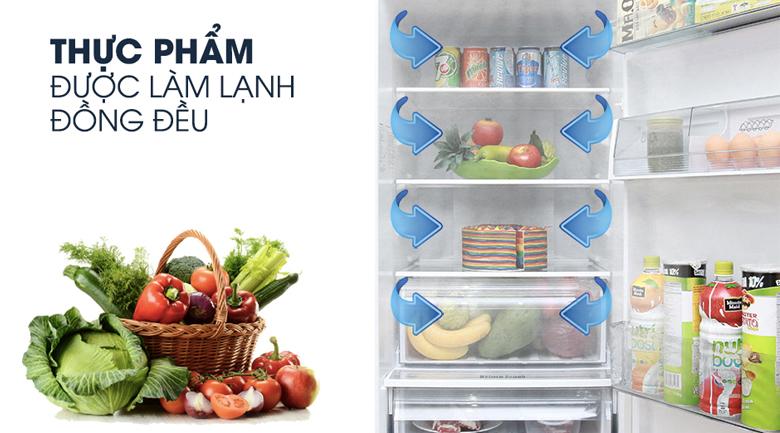Làm lạnh đồng đều - Tủ lạnh Panasonic Inverter 322 lít NR-BV368GKVN