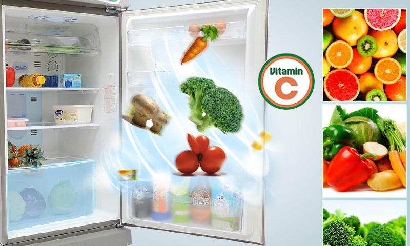 Rau củ luôn được tươi nhờ khả năng cung cấp Vitamin C