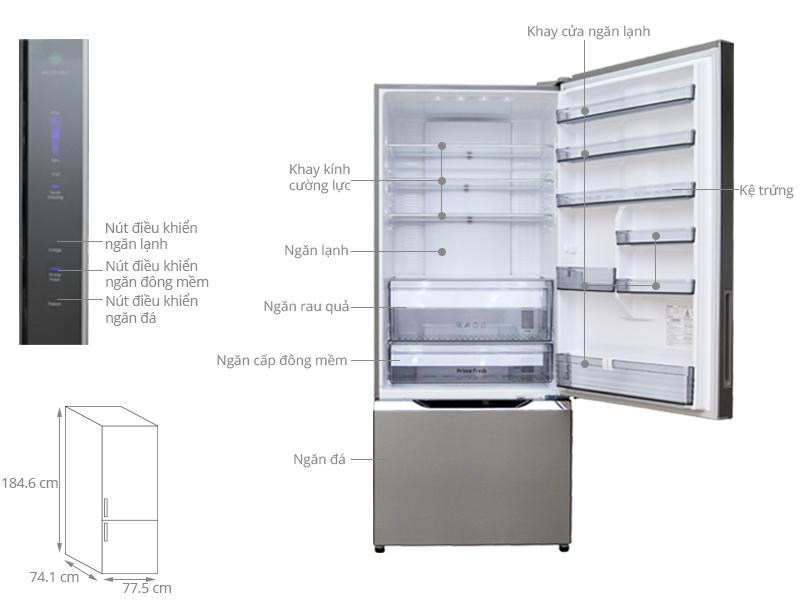 Thông số kỹ thuật Tủ lạnh Panasonic 546 lít NR-BY608XSVN