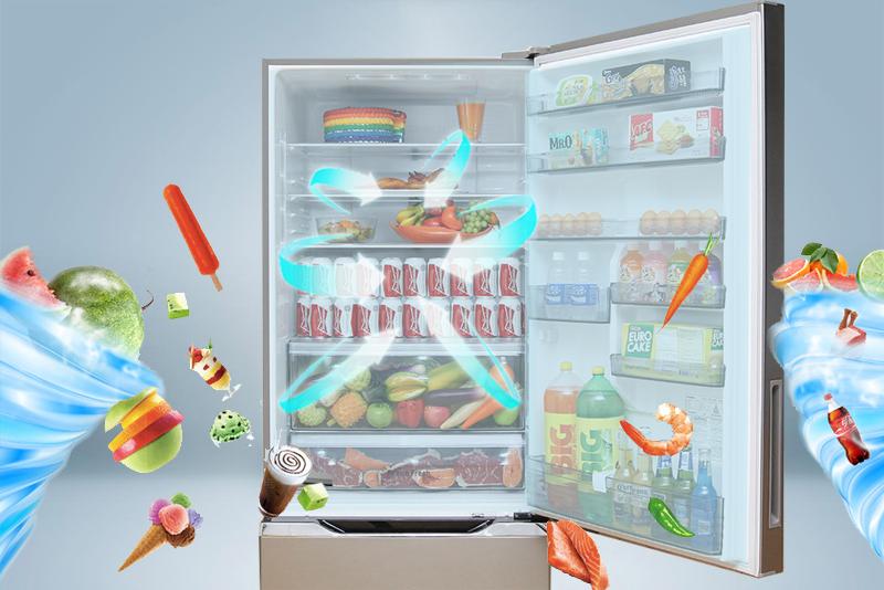 Với công nghệ làm lạnh độc đáo Panorama, tủ lạnh Panasonic NR-BY608XSVN đem đến cho người dùng một không gian bảo quản thực phẩm thật tuyệt