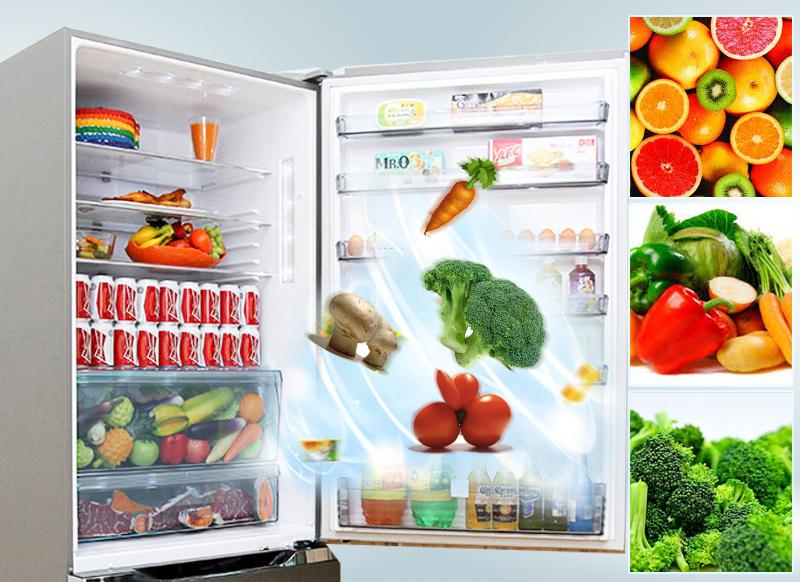 Tủ lạnh Panasonic NR-BY608XSVN có ngăn tủ Fresh Safe