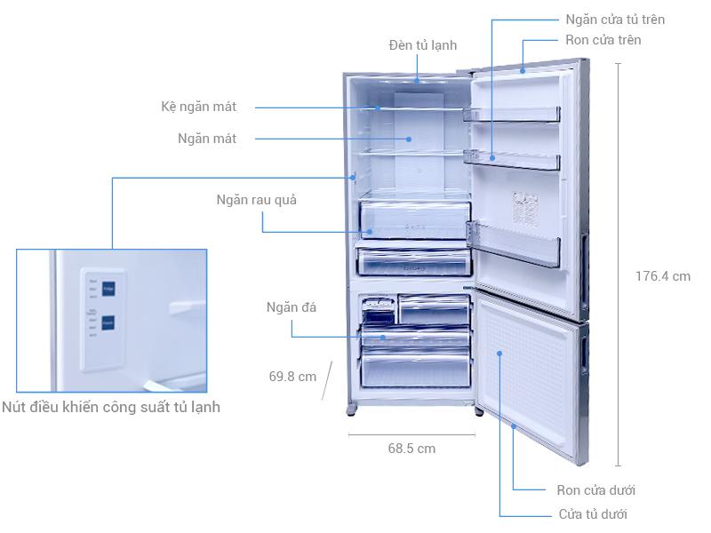 Thông số kỹ thuật Tủ lạnh Panasonic 405 lít NR-BX468VSVN