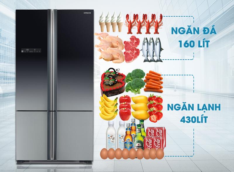 Tủ lạnh Hitachi R-WB730PGV5 GBK