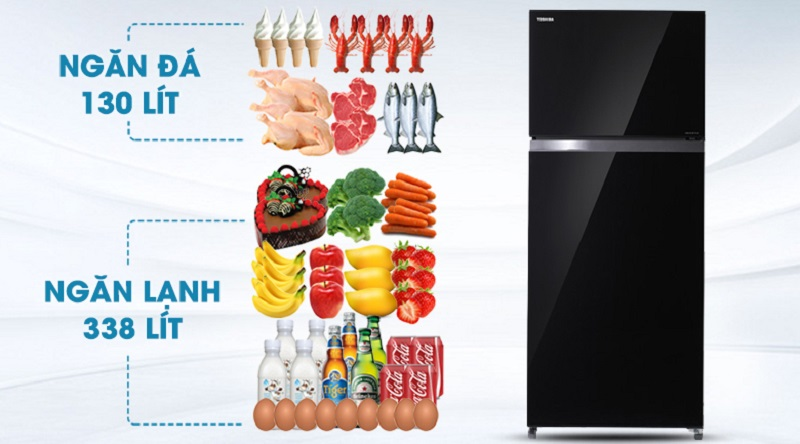 Dung tích lớn 468 lít - Tủ lạnh Toshiba Inverter 468 lít GR-HG52VDZ XK