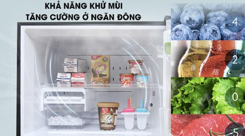 Công nghệ khử mùi ở ngăn đông, hạn chế lẫn mùi thực phẩm  - Tủ lạnh Toshiba Inverter 468 lít GR-HG52VDZ XK