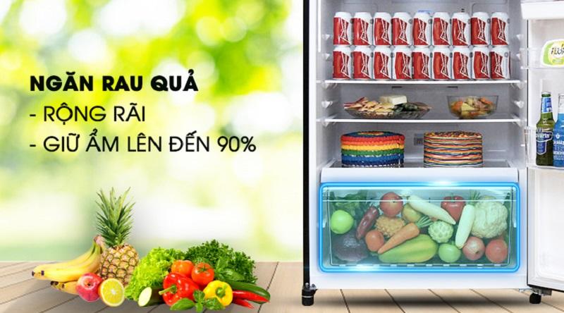Cải tiến ngăn đựng rau quả lớn, giữ ẩm tốt hơn - Tủ lạnh Toshiba Inverter 468 lít GR-HG52VDZ XK