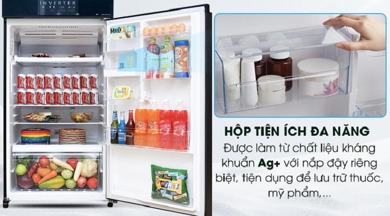 Trang bị hộp tiện tích đa năng, kháng khuẩn an toàn - Tủ lạnh Toshiba Inverter 468 lít GR-HG52VDZ XK