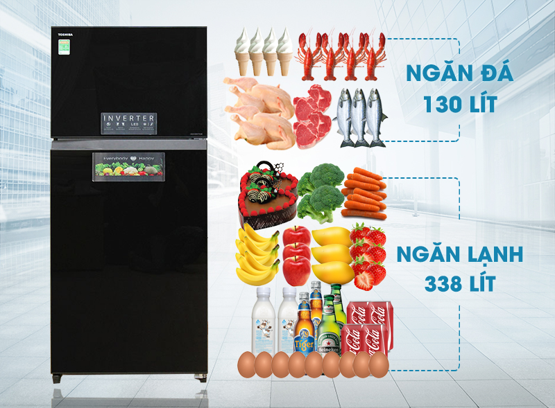 Với gam màu độc đáo tạo sự đẳng cấp, tủ lạnh Toshiba GR-HG52VDZ XK sẽ không chỉ giữ lạnh tốt cho các thực phẩm mà còn đem đến vẻ sang trọng