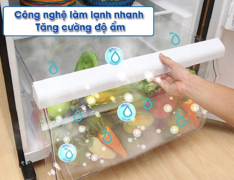 Sở hữu chế độ làm lạnh nhanh, tủ lạnh Toshiba GR-HG52VDZ XK mang hơi lạnh trực tiếp đến thực phẩm