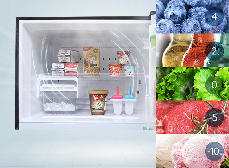 Ngăn đông của tủ lạnh Toshiba GR-HG52VDZ XK có chất xúc tác đặc biệt
