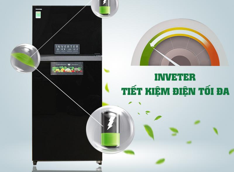 Với công nghệ Inverter, tủ lạnh Toshiba GR-HG52VDZ XK sẽ hạn chế khả năng lãng phí điện năng