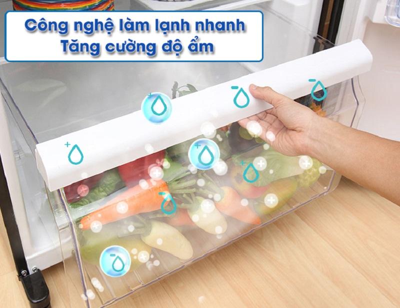 Chế độ làm lạnh nhanh giúp tủ lạnh Toshiba GR-HG55VDZ GG thổi khí lạnh trực tiếp và nhanh vào thực phẩm
