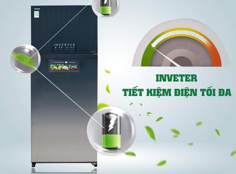 Với khả năng sở hữu công nghệ Inverter độc đáo, tủ lạnh Toshiba GR-HG55VDZ GG không chỉ giúp tiết kiệm điện năng