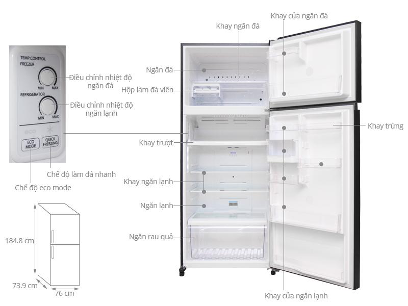 Thông số kỹ thuật Tủ lạnh Toshiba 505 lít GR-HG55VDZ XK
