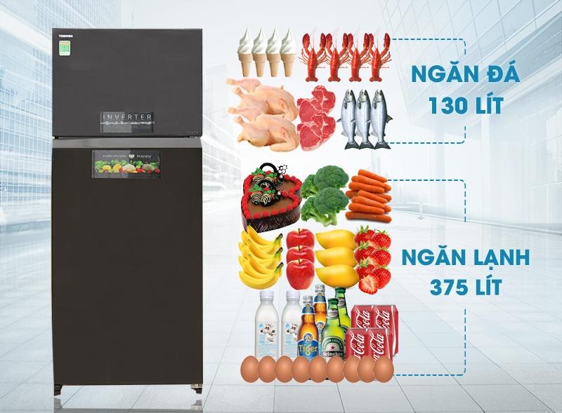 Tủ lạnh Toshiba GR-HG55VDZ XK sở hữu dáng vẻ tinh tế với những đường nét độc đáo