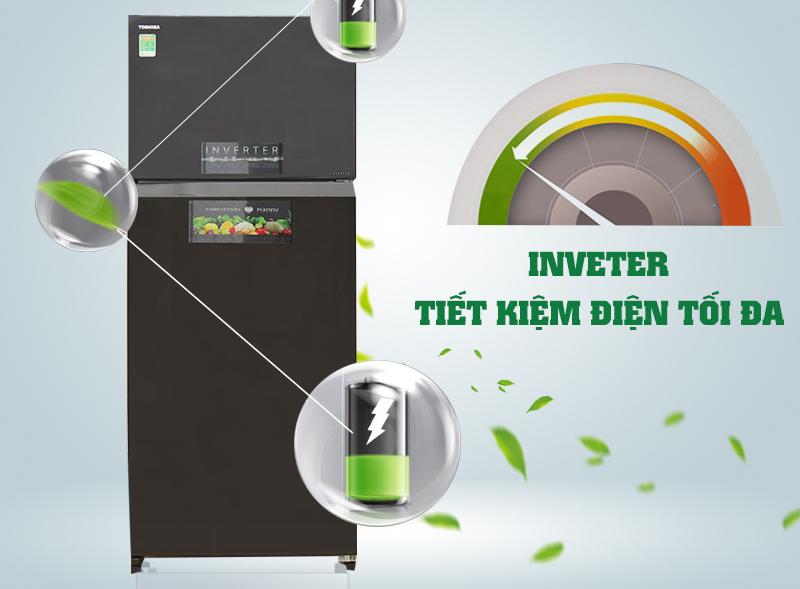 Nhờ công nghệ Inverter, tủ lạnh Toshiba GR-HG55VDZ XK giúp cho gia đình bạn tiết kiệm được chi phí tiền bạc không hề nhỏ