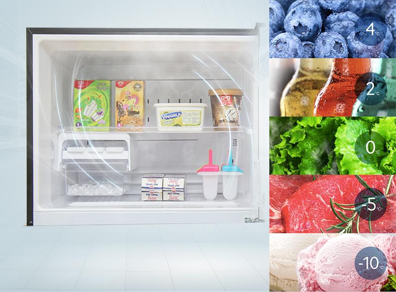 Tủ lạnh Toshiba GR-HG55VDZ XK với ngăn đông có chất xúc tác khử mùi độc đáo