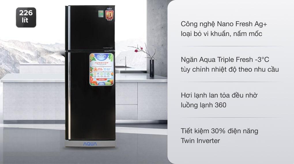 Tủ lạnh Aqua Inverter 226 lít AQR-I246BN