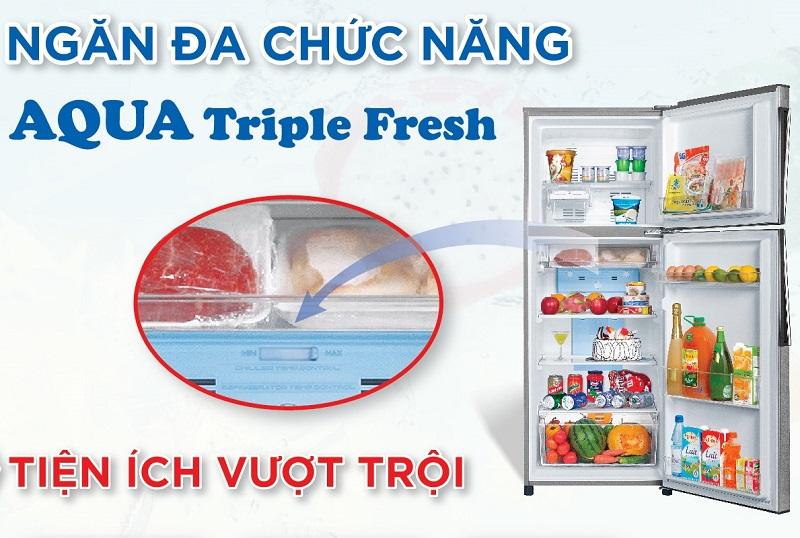 Ngăn trữ Aqua Triple Fresh cấp đông mềm cho thực phẩm