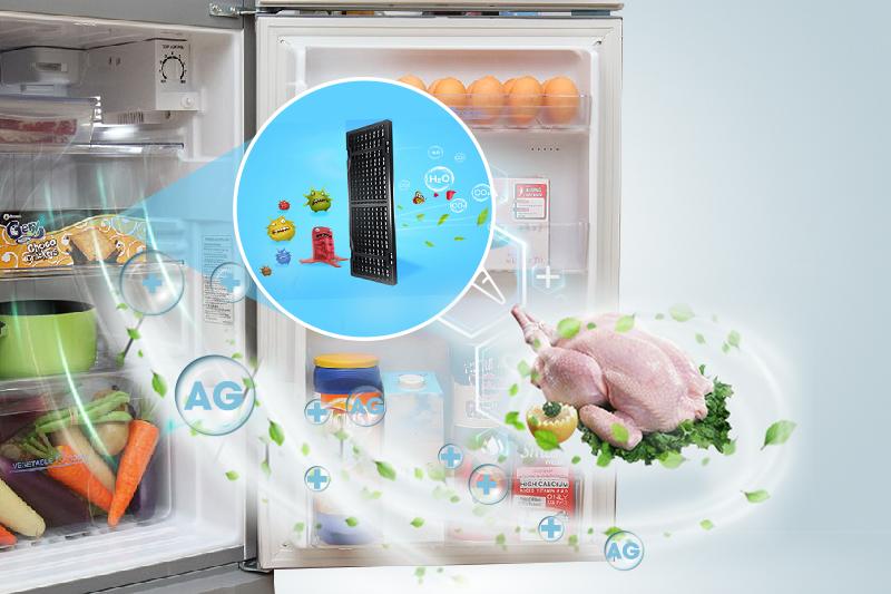 Công nghệ Nano Fresh Ag+ diệt khuẩn, khử mùi