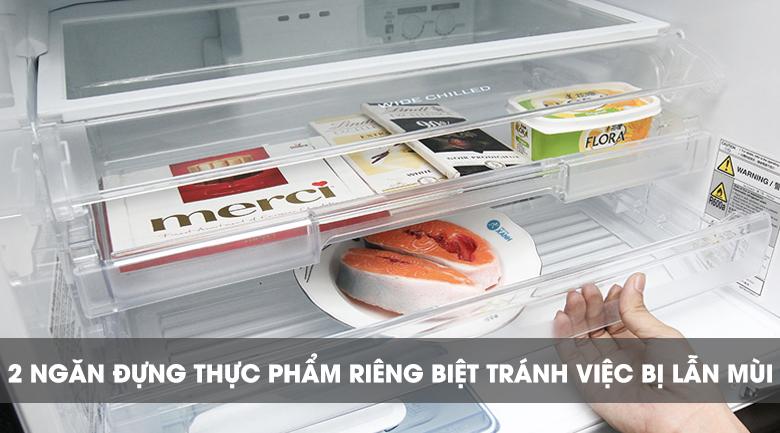 Hệ thống 2 ngăn lưu trữ - Tủ lạnh Mitsubishi Electric Inverter 326 lít MR-CX41EJ-BRW-V