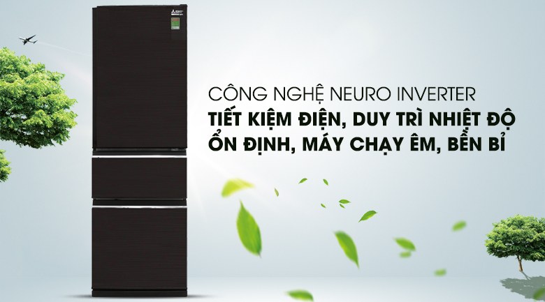 Tủ lạnh Mitsubishi Electric MR-CX46EJ-BRW-V - Inverter
