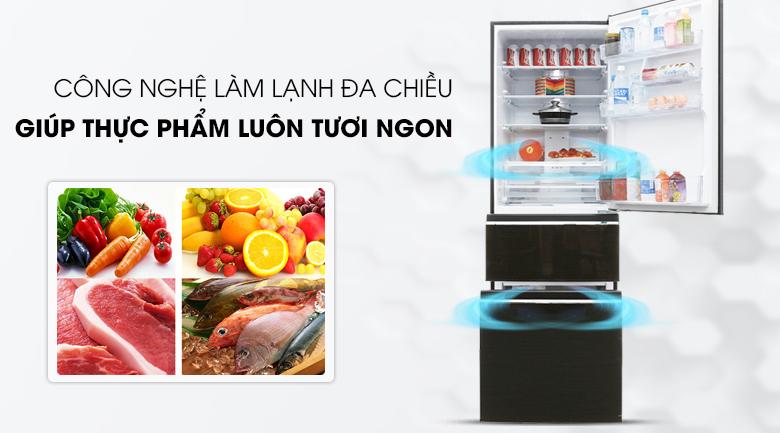 Làm lạnh đa chiều - Tủ lạnh Mitsubishi Electric Inverter 358 lít MR-CX46EJ-BRW-V