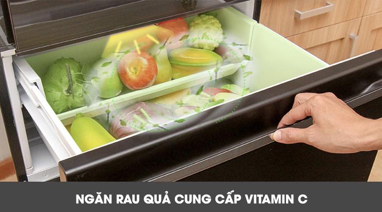 Ngăn rau quả cung cấp Vitamin C - Tủ lạnh Mitsubishi Electric Inverter 358 lít MR-CX46EJ-BRW-V