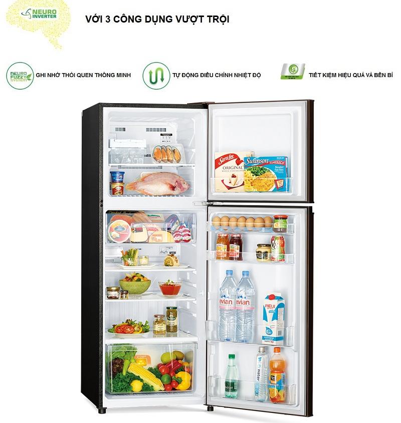 Công nghệ Neuro Inverter của tủ lạnh Mitsubishi Electric MR-FV28EJ-BR-V được ví như là bộ não thông minh