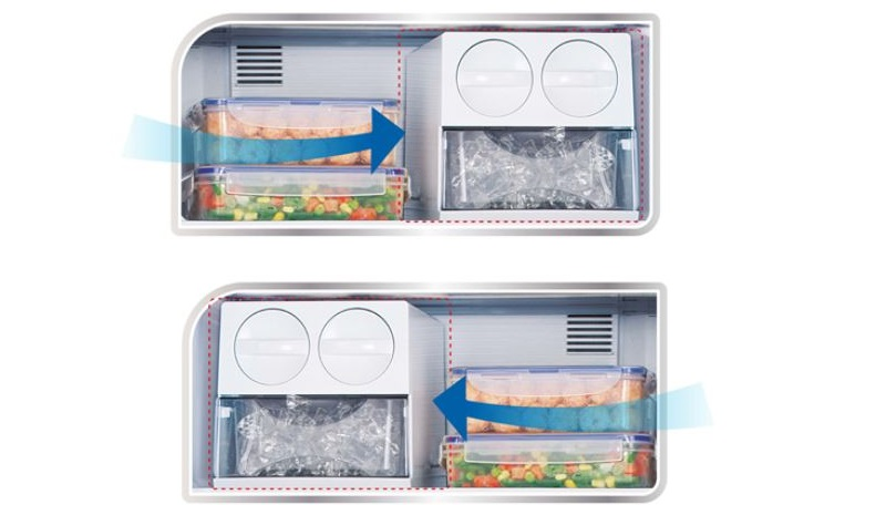 Khay đá linh hoạt của tủ lạnh Panasonic NR-BL347PSVN có thể được đặt ở mọi vị trí
