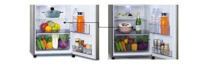 Tủ lạnh Panasonic NR-BL347PSVN có khay trượt tiện dụng