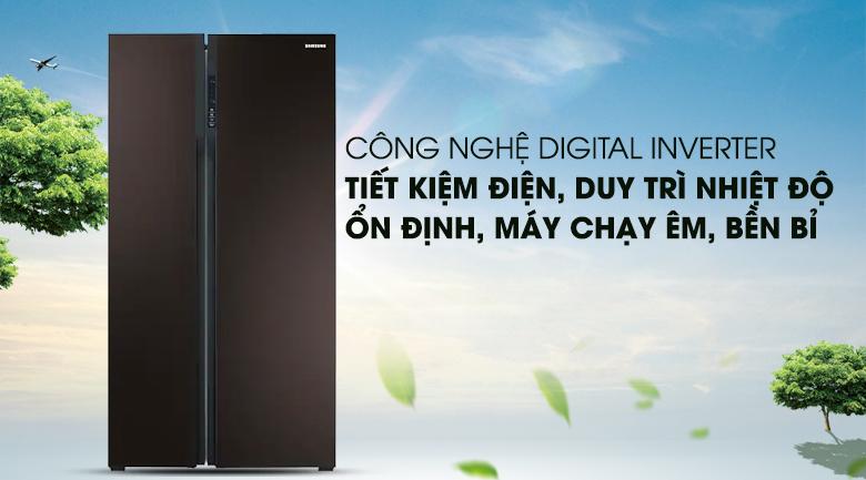 Công nghệ Digital Inverter tiết kiệm điện - Tủ lạnh Samsung RS552NRUA9M/SV