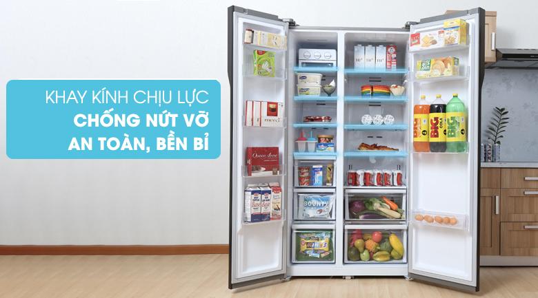 Khay kính chịu lực - Tủ lạnh Samsung RS552NRUA9M/SV