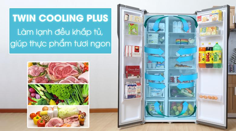 Tủ lạnh Samsung RS552NRUA9M/SV 2 dàn lạnh riêng biệt