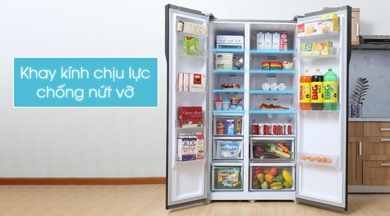 Tủ lạnh Samsung RS552NRUA9M/SV kính chịu lực