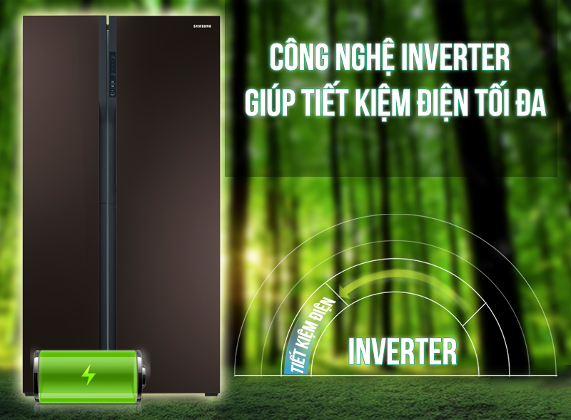 Tủ lạnh Samsung RS552NRUA9M/SV Công nghệ Digital Inverter tiết kiệm điện