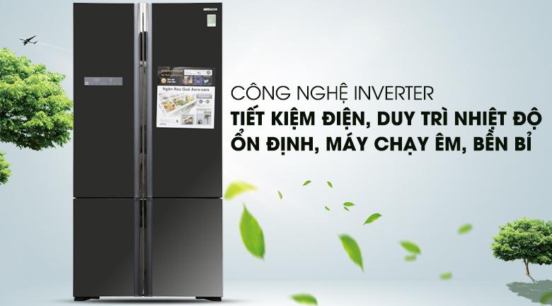 Tích hợp công nghệ Inverter hiện đại - Tủ lạnh Hitachi Inverter 640 lít WB800PGV5 GBK