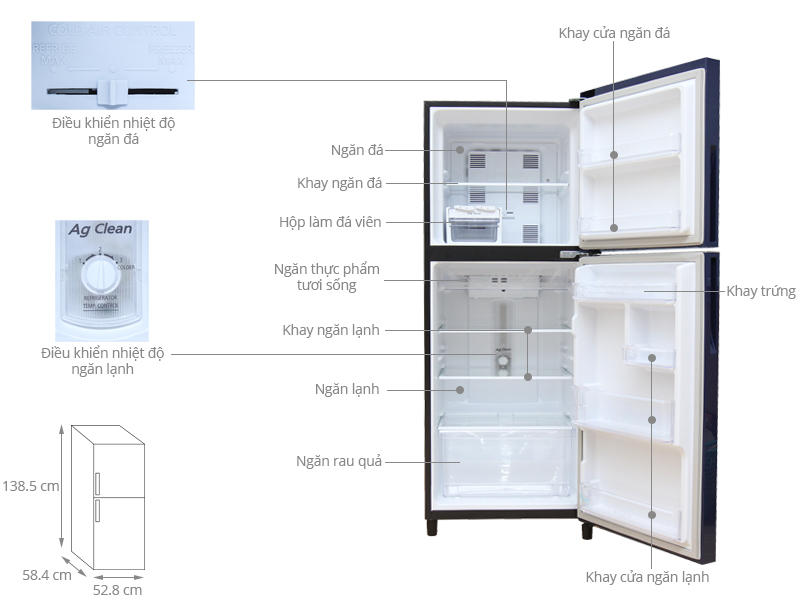 Thông số kỹ thuật Tủ lạnh Panasonic 186 lít NR-BN201GAVN
