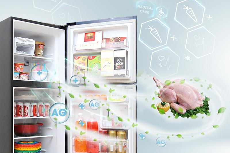 Công nghệ khử mùi Ag Clean của tủ lạnh Panasonic NR-BN201GKVN