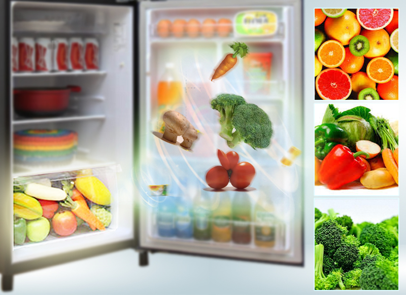 ngăn rau quả giữ ẩm của tủ lạnh Panasonic NR-BN201GKVN