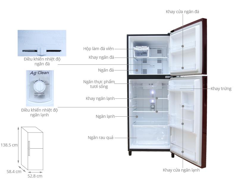 Thông số kỹ thuật Tủ lạnh Panasonic 186 lít NR-BN201GRVN