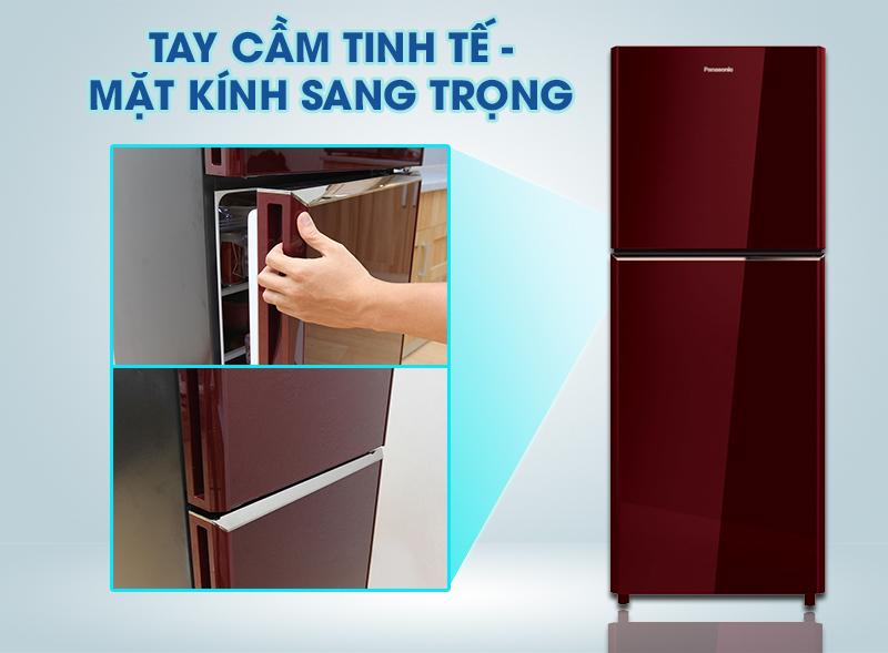 Tủ lạnh Panasonic 186 lít NR-BN201GAVN có tay cầm mạ Crom sáng bóng