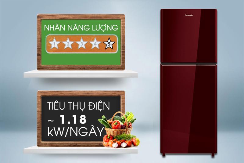Tủ lạnh Panasonic 186 lít NR-BN201GAVN tiết kiệm điện