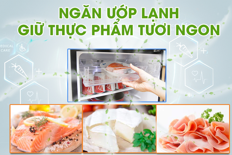 Tủ lạnh Panasonic 186 lít NR-BN201GAVN giúp thực phẩm sống luôn được tươi ngon