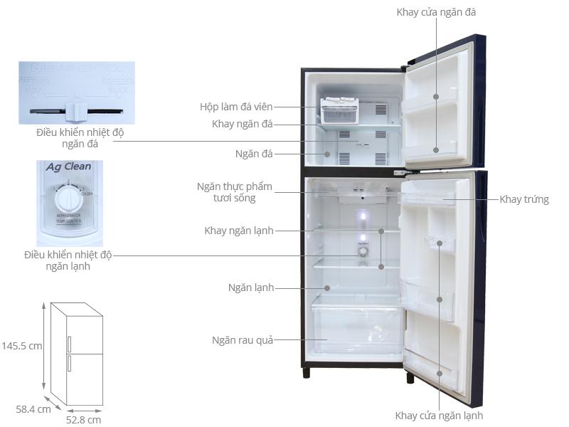 Thông số kỹ thuật Tủ lạnh Panasonic 199 lít NR-BN211GAVN
