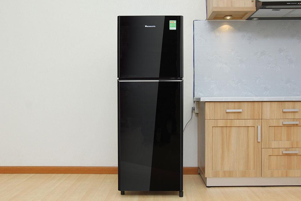 Panasonic glasses door refrigerator nrbn211gkvn black for 1 door fridge malaysia