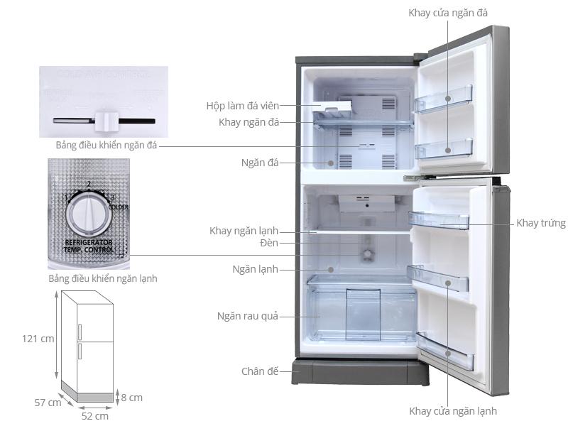Thông số kỹ thuật Tủ lạnh Panasonic 152 lít NR-BA178PSVN